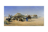 Bedouins with Tents Near Cairo, 1876 Giclee Print by Nikolaj Jegorowitsch Makovskij