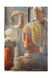 Group of Four Heads Gray Blue, Folkwang-Study III, 1928 Giclee Print by Oswald Achenbach