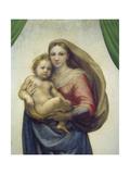 Maria Mit Dem Kind, Sixtinische Madonna, Detail Giclee Print by  Raffael