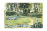 The Circular Flower Bed in the Garden, 1923 Posters by Max Liebermann