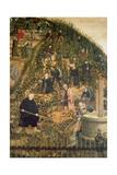 Der Weinberg Des Herrn (Martin Luther Im Weinberg), Epitaph Fuer Paulus Ebe Giclée-tryk af Lucas Cranach the Elder