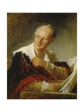 Denis Diderot, Um 1769 Reproduction procédé giclée par Jean-Honoré Fragonard