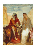 Othello and Desdemona, 1844 Giclee Print by Theodore Chasseriau