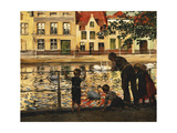 Feeding the Swans Giclee Print by Paul Meyerheim