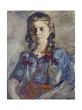 Wilhelmine with Hair in Braids, 1922 Giclee Print by Lovis Corinth