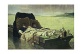 The Two Sons of Clovis II, after Being Tortured by Jumieges on the Seine River Giclee Print by Evariste Vital Luminais
