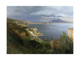 The Gulf of Naples, 1883 Giclee Print by Oswald Achenbach