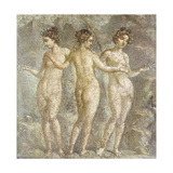 The Three Graces Giclee Print by  Pompeii