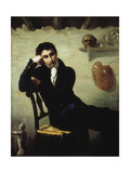 Portrait of an Artist in His Studio Giclee Print by Thomas Cole