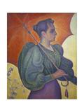 Woman with a Parasol (Berthe Signac), 1893 Prints by Paula Modersohn-Becker