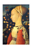 Portrait of Ginevra D' Este Giclee Print by Placido Frances y Pascual