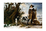 Winter Landscape with Hunter, 1624 Giclee Print by Jan Wildens