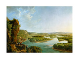 View from the Isteiner Klotz Up the Rhine to Basel, C. 1819 Giclee Print by Peter Birmann
