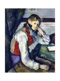 The Boy with the Red Vest Giclee Print by Paul Cézanne