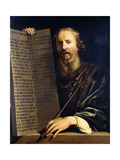 Moses Holding the Ten Commandments Posters by Philippe De Champaigne