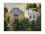 Suburban Garden Near Asnieres, 1883 Impression giclée par Paul Signac