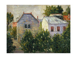Suburban Garden Near Asnieres, 1883 Giclee Print by Paul Signac