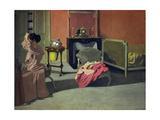 Woman Doing Her Hair Giclée-Druck von Felix Vallotton