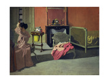 Woman Doing Her Hair Giclee Print by Felix Vallotton
