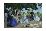 Family Reunion, the Artist with His Family on the Terrace in Méric, 1867 Giclee Print by Frédéric Bazille