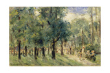 Path in Berlin Tiergarten with People Strolling, 1921 Giclee Print by Max Liebermann