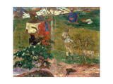 Tropical Conversation, (Conversation Tropiques, Martinique), 1887 Giclee Print by Paul Gauguin