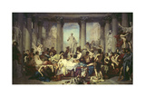 The Romans of the Decadence (Les Romains De La Décadence), 1847 Giclee Print by Thomas Francis Dicksee