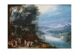 Wooded River Scenery with Road Way, C. 1602 Giclee Print by Feb Brueghel