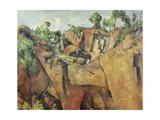 Stone Quarry Near Bibémus, 1898-1900 ジクレープリント : ポール・セザンヌ
