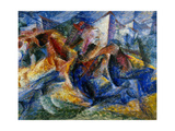 Horse and Rider and Buildings, 1914 Giclee Print by Umberto Boccioni