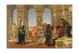 The Defamation of Apelles, 1494-95 Giclee Print by Sandro Botticelli