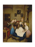 Grandmother with Three Granddaughters Giclee Print by Ferdinand Georg Waldmüller