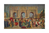 The City-Gate of Jaipur Giclee Print by Paul Camille Guigou