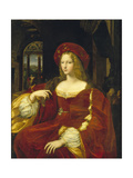 Portrait of the Vicereine of Naples, Isabel De Cardona De Requesens Giclee Print by Raffaello Sorbi