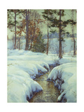 Snowladen Brook, Walter Launt Palmer (1854-1932) Giclee Print by Walter Launt Palmer