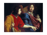 The Archangel Raphael with Tobias, 1740s Giclee Print by Lorenzo Lippi