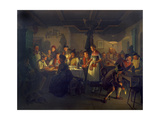 Good Time During an Evening in a Bavarian Inn, 1861 Giclée-Druck von Moritz Von Schwind
