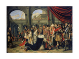 The Family of Persian King Darius Standing before Alexander the Great Giclee Print by Wolfgang Heimbach