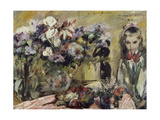 Flowers and the Artist's Daughter Wilhelmine, 1920 Giclee Print by Lovis Corinth