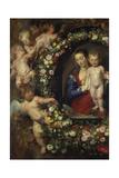 Detail Aus 'Madonna Im Blumenkranz': Linke Seite Des Gemaeldes Giclee Print by Peter Paul Rubens