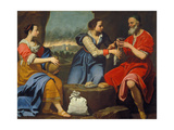 Lot and His Daughters Giclee Print by Lorenzo Lippi