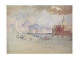 Venice, as Seen from the Lagoon Giclee Print by Joseph Mallord William Turner