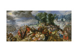 Moses and the Israelites Crossing the Red Sea Giclee Print by Frederick van Valckenborch