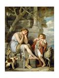 L'Agneau Cheri Giclee Print by Jean Baptiste Greuze
