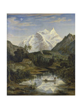 Mountainscape with Lake Giclee Print by Joseph Anton Koch