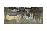 The Sacred Wood Cherished by the Arts and the Muses , 1883-84 Giclee Print by Pierre-Joseph Redouté