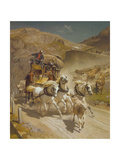 The Gotthard Pass Post Coach, 1873 Giclee Print by Rudolf Koller