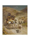 The Gotthard Pass Post Coach, 1873 Giclee Print by Rudolf Koller