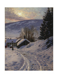 Wintersun Near Lillehammer, 1919 Giclee Print by Peder Moensted
