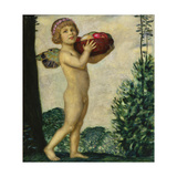 Cupid with Basket of Fruit, C. 1920 Giclee Print by Franz von Stuck